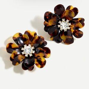 J. Crew Full Bloom Earrings- Tortoise